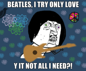 all you need is love, beatles, and meme image