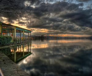 clouds, Greece, and hdr image