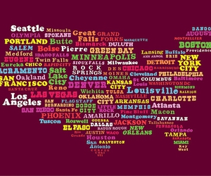 america, land, and city image
