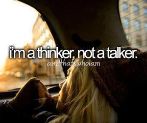 thinker, quote, and talker image