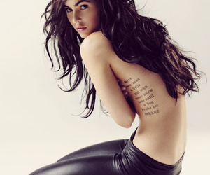 megan fox, red hair, and tattoo image