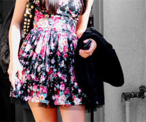 dress, demi lovato, and floral image