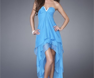 dress, blue, and sexy image