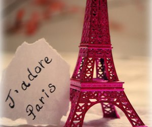 paris, pink, and torre eiffel image