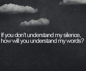 silence, quote, and text image