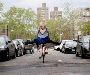 bicycle and dress image