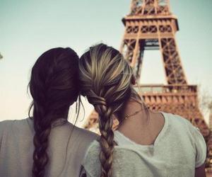 paris, friends, and hair image
