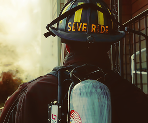 chicago fire, fire truck, and fire image
