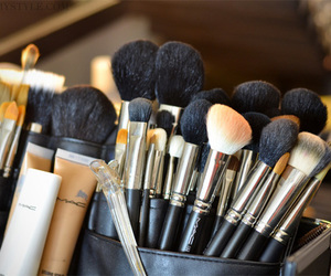 Brushes, mac, and makeup image