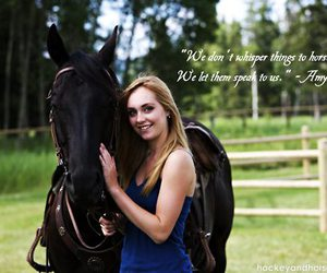 amy, black, and horses image