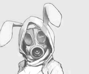 anime, bunny, and gas mask image