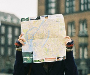 boy, map, and maps image