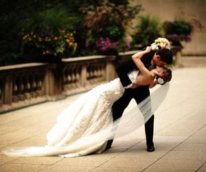 wedding, love, and couple in love image