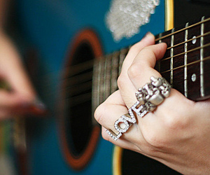 guitar, love, and ring image