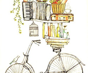 book, bike, and bicycle image