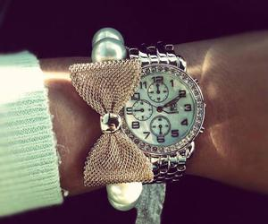 fashion, watch, and bow image