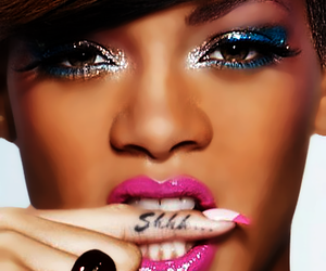 rihanna, shhh, and tattoo image