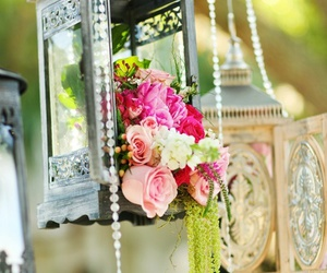 beads, flowers, and flower image