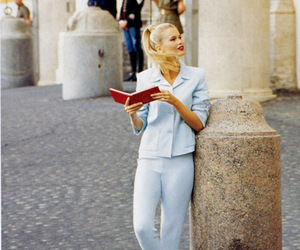 90s, blonde, and Claudia Schiffer image