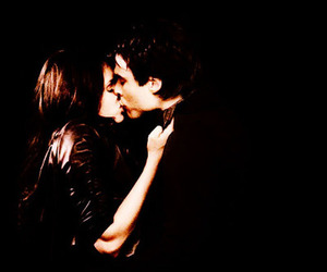 elena, kiss, and Vampire Diaries image