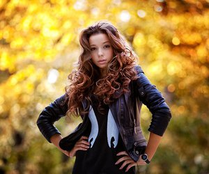 autumn, hair, and model image