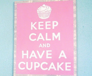 boy, cupcake, and keep calm image