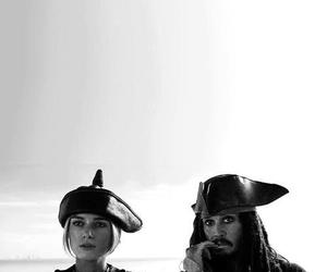 black and white, captain jack sparrow, and johnny depp image