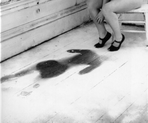 black and white, photography, and francesca woodman image