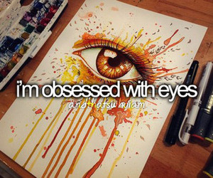eyes, drawing, and obsessed image