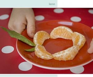 orange, plate, and polka dots image