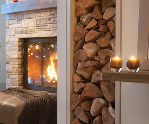 cozy, home, and fireplace image