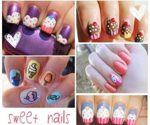 nails, sweet, and cupcake image