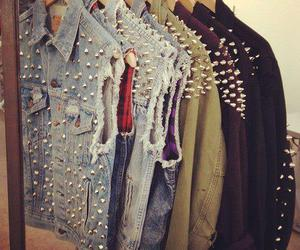 fashion, spikes, and clothes image