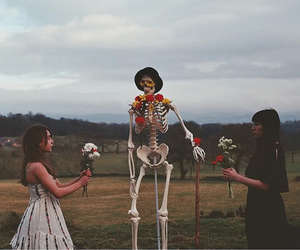 editorial, fashion, and skeleton image