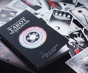 black, book, and cards image