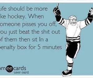 hockey, life, and funny image