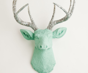 deer, glitter, and mint image