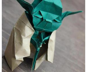 yoda, star wars, and origami image