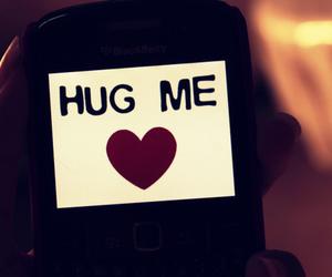 hug, hug me, and text image