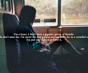 quote, loner, and text image