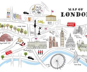 illustration, paris, and london image