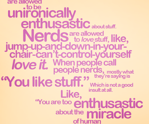 nerd, john green, and quotes image