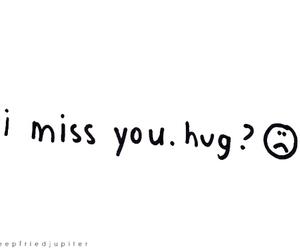 hug, miss, and sad image