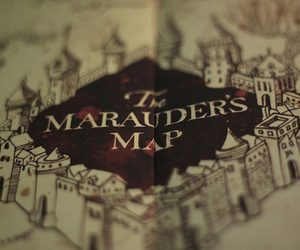harry potter, the marauders map, and marauders map image