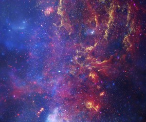 space, blue, and galaxy image