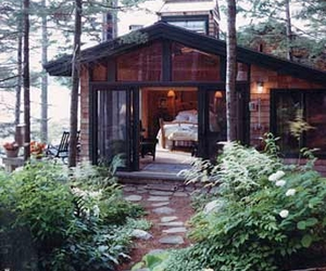 cottage, forest, and house image