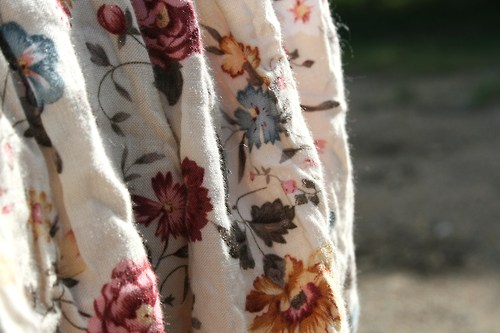 floral and fabric image