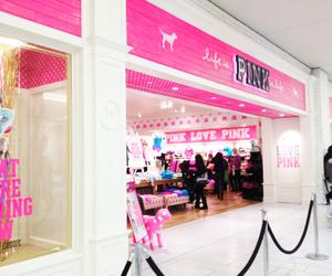 Victoria's Secret, pink, and store image