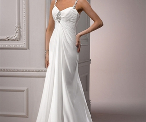 ball gown, layered, and one shoulder image