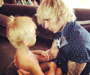blonde, boy, and father image